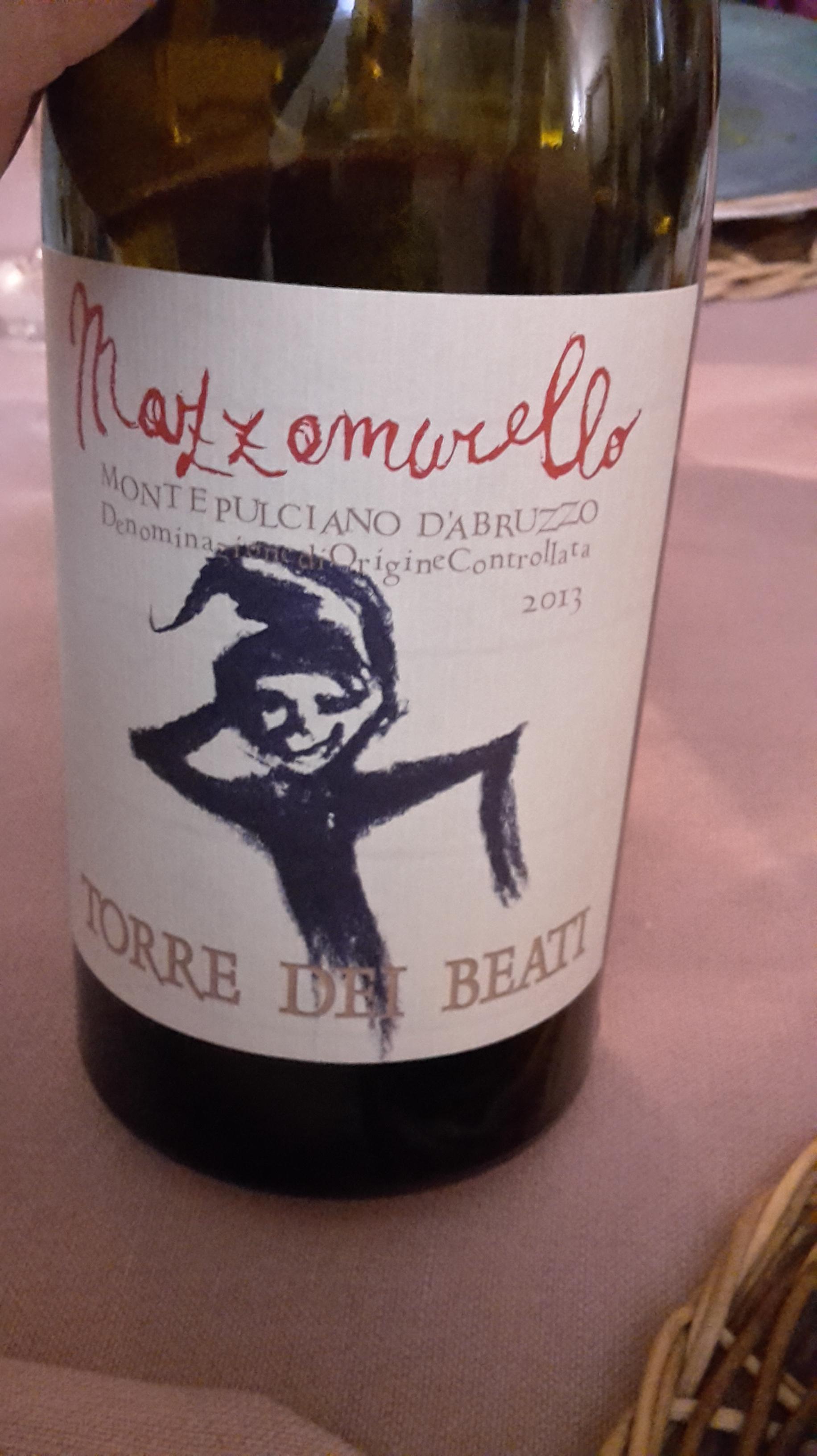 Montepulciano d'Abruzzo Doc – Mazzamurello 2013: l'imperdibile vino-folletto di Torre dei Beati